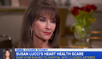 "AMC's Susan Lucci ""lucky to be alive"" after emergency heart surgery"