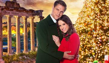 Romantic Hallmark Christmas film pairs AMC alums Lacey Chabert and Sam Page