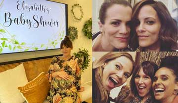 It's an All My Children mini-reunion at GH and Y&R star Elizabeth Hendrickson's baby shower