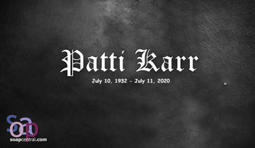 Soap alum Patti Karr has died