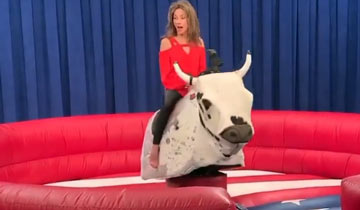 WATCH: All My Children star Susan Lucci rides a mechanical bull