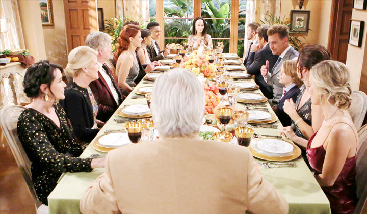 Will Thanksgiving at Forrester Mansion be peaceful or end in a food fight?