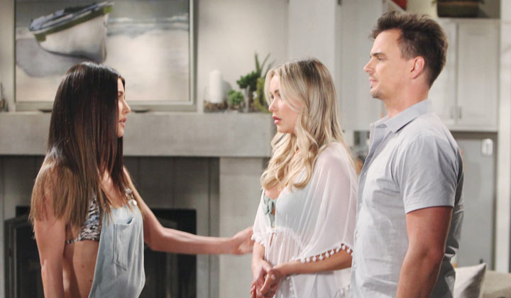 Steffy thanks Flo for bringing baby Phoebe into their lives