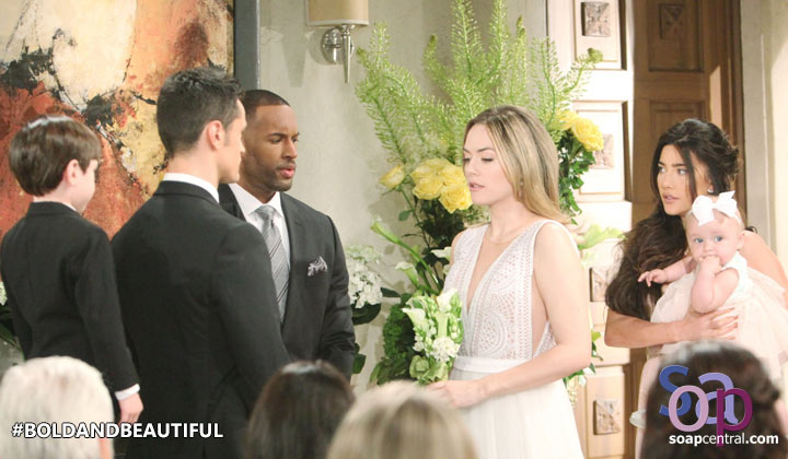 Will Hope and Thomas' wedding continue after an unexpected interruption?