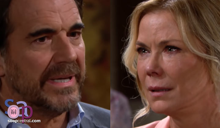 Ridge tells Brooke he's leaving... and heads straight to Shauna