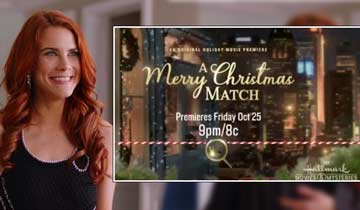 THIS WEEK: Hallmark's A Merry Christmas Match features B&B's Courtney Hope and Y&R's Alice Hunter
