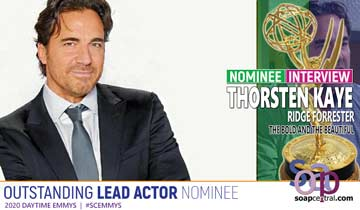 INTERVIEW: Thorsten Kaye dishes on his Emmy nomination for his work as The Bold and the Beautiful's Ridge Forrester