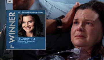 INTERVIEW: Heather Tom opens up about her Emmy win and getting back to work at The Bold and the Beautiful