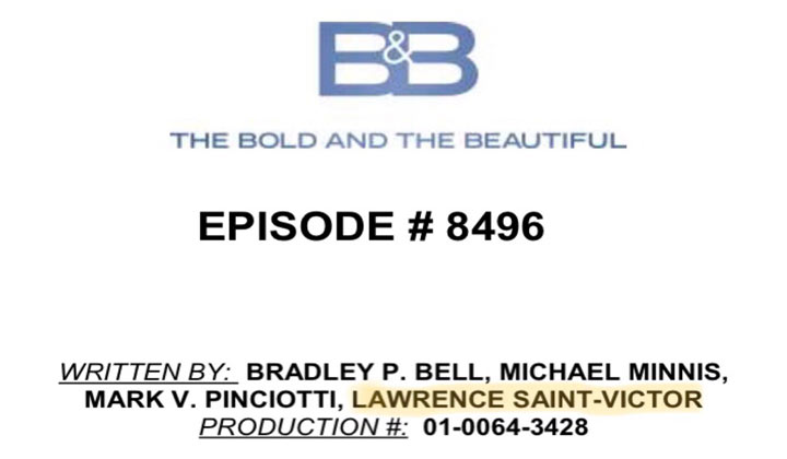 Lawrence Saint-Victor writes episode of The Bold and the Beautiful