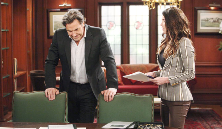 Steffy bluntly reminds Ridge what Brooke is capable of