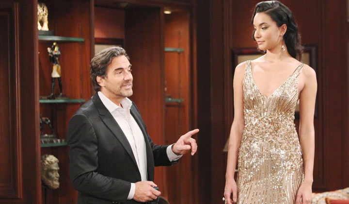Ridge shows off Thomas�s designs to Steffy -- and Ridge gets a big surprise