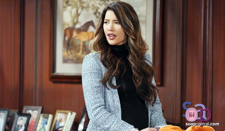 Steffy intervenes in a conflict between Finn and Liam