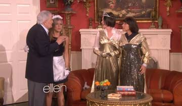 DAYS' John Aniston and real-life daughter Jennifer reunite in Ellen Degeneres soap sketch