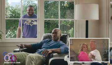 Days of our Lives' Deidre Hall and Drake Hogestyn appear in NFL Tide commercial