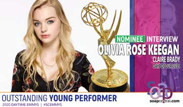 INTERVIEW: Olivia Rose Keegan on her Emmy nomination and return as Days of our Lives' troublemaker, Claire