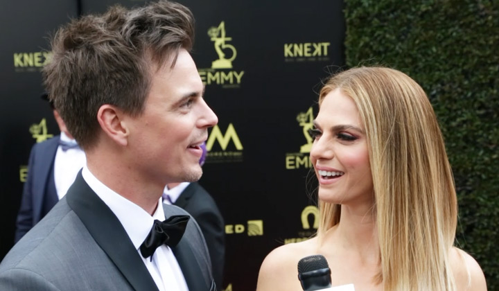 On the 2018 Daytime Emmys Red Carpet: Darin Brooks and Kelly Kruger