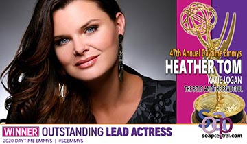 Heather Tom ties record with Lead Actress win,