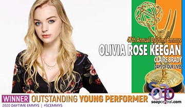 YOUNG PERFORMER: DAYS' Olivia Rose Keegan takes Emmy gold