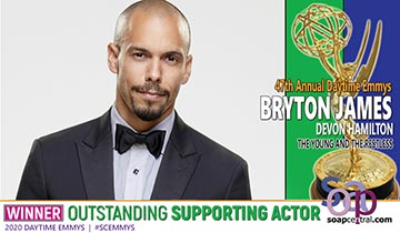 SUPPORTING ACTOR: Y&R's Bryton James earns his second Daytime Emmy