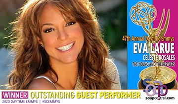 GUEST PERFORMER: Eva LaRue wins first-ever Daytime Emmy