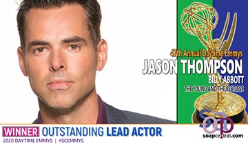 Jason Thompson earns first Daytime Emmy with Y&R Lead Actor win