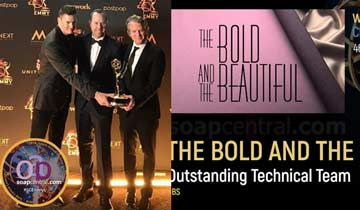CREATIVE ARTS WINNERS: B&B wins Emmys for Technical Team, Original Song