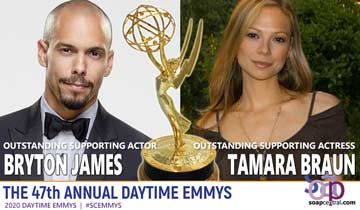2020 Daytime Emmys: Tamara Braun and Bryton James win second Emmys, bring attention to need for equality