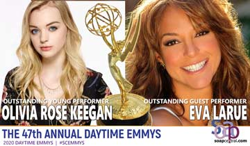 2020 Daytime Emmys: DAYS' Olivia Rose Keegan wins in new gender-inclusive category, Eva LaRue wins first Emmy