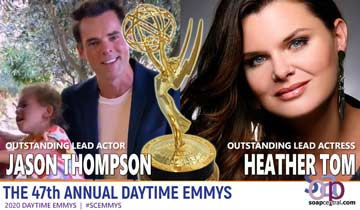 LEAD ACTOR AND ACTRESS: Y&R's Jason Thompson, Y&R alum Heather Tom earn gold