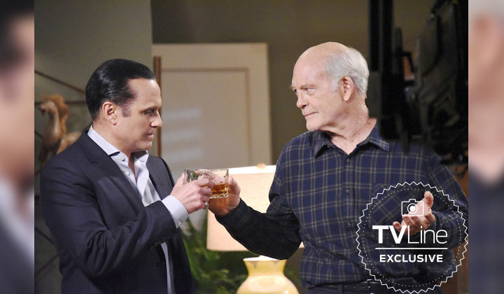 First photo of Max Gail (Mike Corbin) and Maurice Benard