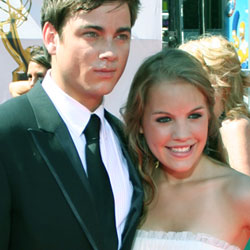 Kristen Alderson, with co-star Brandon Buddy (Cole Thornhart)