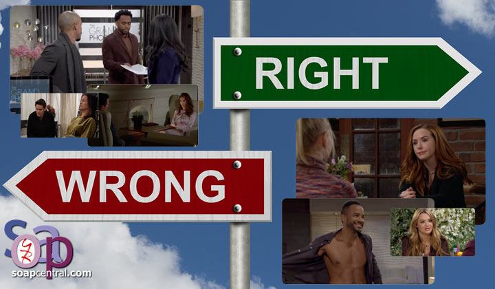 Y&R COMMENTARY: Here in the middle somewhere between right and wrong