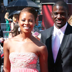 Eva Pigford Marcille, with boyfriend Lance Gross