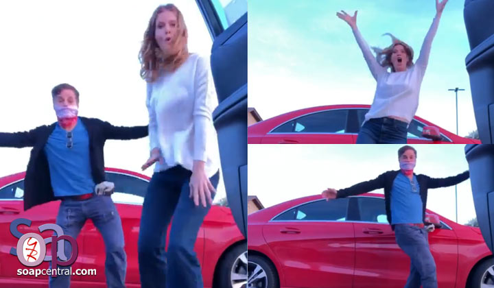 Y&R's Christian LeBlanc, Michelle Stafford throw a dance party