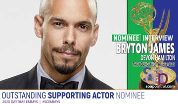 Bryton James reacts to his Emmy nomination, says he's ready to return to The Young and the Restless