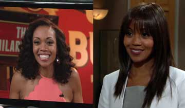 Mishael Morgan reacts to her fun The Young and the Restless twin reveal