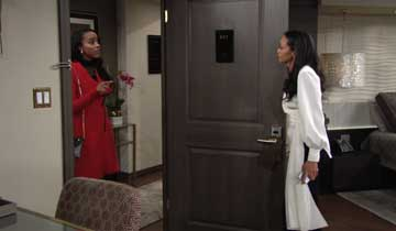 Amanda's sister Imani heads back to Y&R